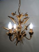 Hollywood regency wheat sheaf lamp