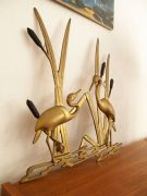 Hollywood Regency brass wall sculpture