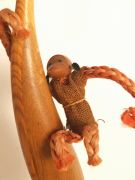 vintage Scandinavian rope monkey